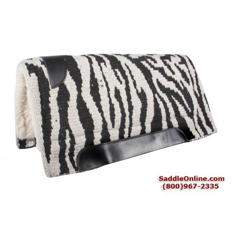 Premium Zebra Print Wool Heavy Wool Western Saddle Pad
