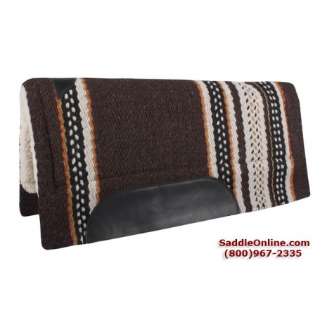 Brown  Wool Heavy Horse Wool Western Saddle Pad