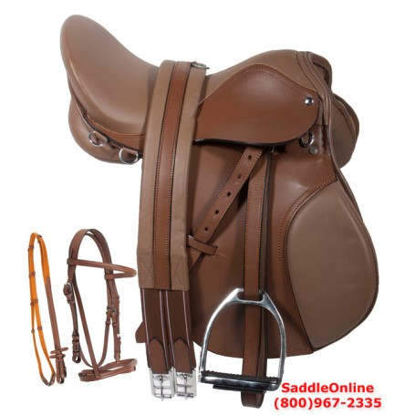 Premium 16 18 Tan English Horse Leather Saddle Tack