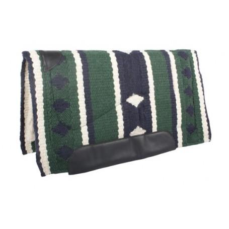 Green Navy Wool Felt Heavy Western Horse Saddle Pad