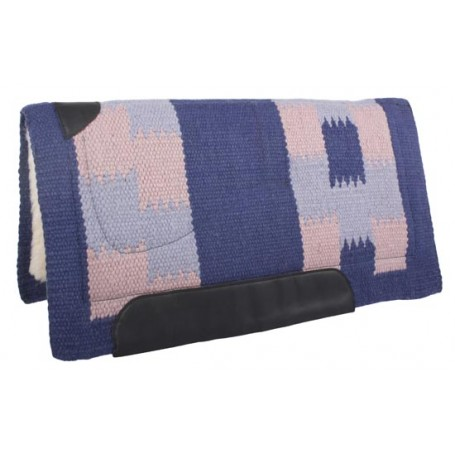 Pink Blue Wool Felt Heavy Western Horse Saddle Pad