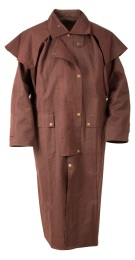 Brown Full Length Mens Womens Australian Duster Coat [10102]