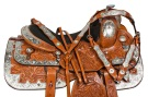 Silver Chestnut Western Pleasure Show Horse Saddle Tack 16 [10149]