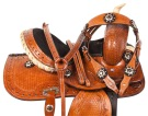 Western Youth Pony Kids Barrel Trail Leather Saddle 10 13