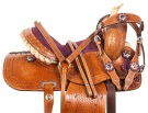 Purple Toddler Youth Kids Pony Western Saddle Tack 10 12 [10421]
