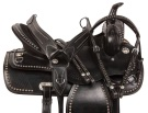 Black Studded Parade Show Western Horse Trail Saddle 15 18
