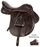 Brown Leather All Purpose English Horse Saddle 15 18 [10739]