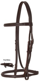 Dark Brown All Purpose English Leather Bridle Reins Set