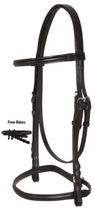 Black All Purpose English Eventing Leather Bridle Reins Set [10913]