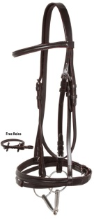 Brown Eventing English Leather Show Horse Bridle Set [10917]
