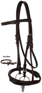 Dark Brown English Leather AP Horse Bridle Tack Set