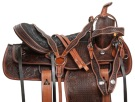 Hand Carved Antique Oil Western Pleasure Horse Saddle 14 17 [10938]