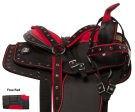 Red Crystal Youth Kids Quarter Horse Saddle Tack 10 [10944]