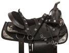 Texas Star Black Dura Leather Western Horse Saddle 15 16 [10946]