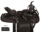 Black Synthetic Light Weight Western Horse Saddle 15 16 [10972]