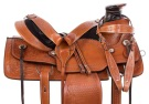 Tan Chestnut Western Wade Tree Roping Horse Saddle 15 17 [11005]