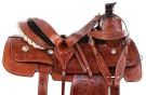 Premium Western Tooled Roping Ranch Horse Saddle 15 16 [11008]