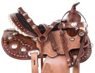 Premium Western Crystal Barrel Racer Trail Horse Saddle Set [11011]