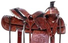 Western Cowboy Ranch Roper Leather Horse Saddle Tack 14 18 [11012]