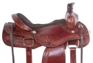 Beautiful Hand Carved Western Trail Roping Horse Saddle 16 [11013]