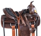 Antique Oil Western Pleasure Trail Horse Saddle Tack 14 17 [11016]