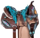 Crystal Heart Western Barrel Racing Horse Saddle 14 16 [11017]