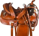Brown Parade Studded Show Western Saddle 15 16 [9690]