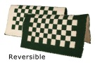Green And White Checkered Reversible Show Blanket [B1816]