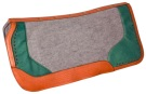 Jade Green Felt Contour Barrel Western Horse Show Saddle Pad [SP025]